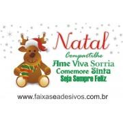 Adesivo Feliz Natal Rena 1,20 x 0,50m