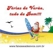 Adesivo Papai Noel Férias na Praia 1,00 x 0,85m