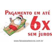 Adesivo Papai Noel na Praia 1,00 x 0,40m