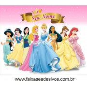 Princesas aniversário decoração mesa 1,50 x 1,00