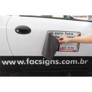 808 - Imã Flexivel para Carro 60x25cm - Envie arte pronta ou solicite a sua! Mais vendido!
