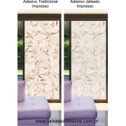 091 VD - Adesivo Decorativo Arabesco Floral  2,10 x 0,70m