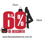 Adesivo Desconto BAG Silhueta 70 x 55cm