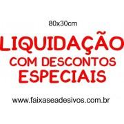 Adesivo Liquidação Especial 80 x 30cm