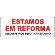 Faixa Estamos em Reforma 2,00 x 0,70
