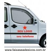 Adesivo para Porta de Carro  60X25cm e 65x6cm Recorte