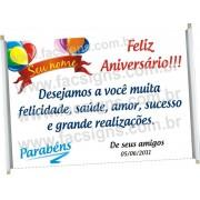 Faixa Feliz Aniversário
