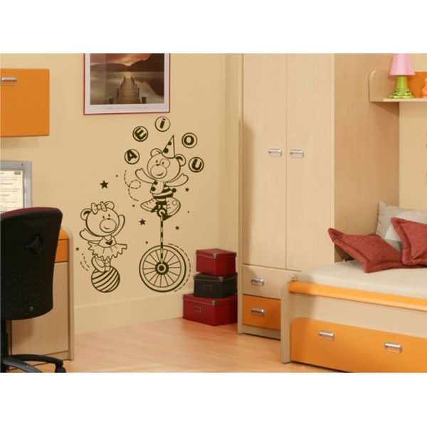 Infantil Adesivo Baby Kids Circo 80x50cm  - FAC Signs Impressão Digital