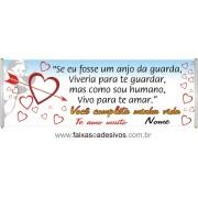Faixa Mensagem de Amor 2,00 x 0,70m