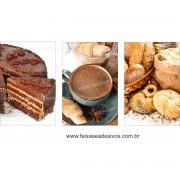 Fotos Decorativas Café 002 - Escolha Adesivo ou placa 60x40 cada - jogo com 3 peças