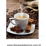 Fotos Decorativas Café 008 - Escolha Adesivo ou placa 50x60cm