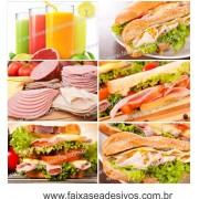 Fotos Decorativas Lanches 004 Mosaico- Escolha o tamanho - Adesivo ou placa