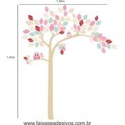 022 - Arvore Adesivo Decorativo Infantil folhas de retalho
