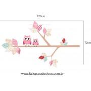 024 - Galho retalhos Adesivo decorativo - Escolha o tamanho