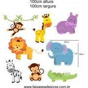 028 - Safari cartela de adesivos 100x100cm