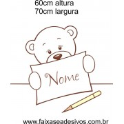 030 - Ursinho Adesivo Decorativo de Parede 60x70cm