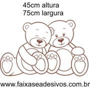 031 - Ursinho Marrom e Branco 45x75cm