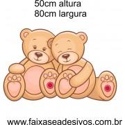032 - Ursinho colorido adesivo decorativo 50x80cm