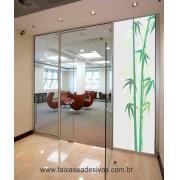 096 - Adesivo Jateado para vidro Bamboo 220x70cm