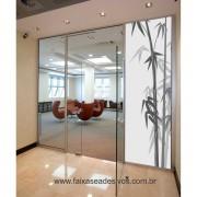 078 VD - Adesivo Jateado para vidro Bamboo 210x70cm