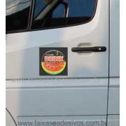 802 - Imã Flexivel para Carro 20x20cm - Envie arte pronta ou solicite a sua!