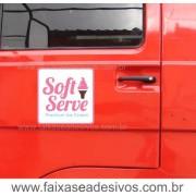 803 - Imã Flexivel para Carro 30x30cm - Envie arte pronta ou solicite a sua!