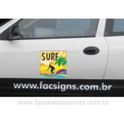 805 - Imã Flexivel para Carro 40x40cm - Envie arte pronta ou solicite a sua!