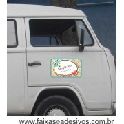 806 - Imã Flexivel para Carro 50x30cm - Envie arte pronta ou solicite a sua!