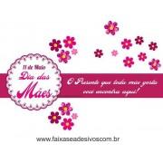 AB204 - Adesivo Dia das Mães Flores!!