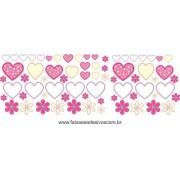 AB202 - Adesivo Cartela de Flores e Corações!!
