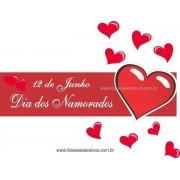 Adesivo Dia dos Namorado Coração com Amor 1,20 x 0,30m