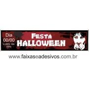 Halloween faixa em lona 300x70