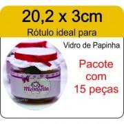 - Rótulo Vidro de Papinha - Escolha o tipo de material - R612