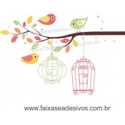 Galho de Algodão Doce Adesivo Decorativo - Escolha Tamanho - R099