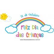 Adesivo Dia das Crianças Arco iris - Escolha o tamanho - C202