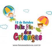 Adesivo Dia das Crianças Paraquedas - Escolha o Tamanho - C206