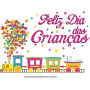 Adesivo Dia das Crianças Trenzinho - Escolha o Tamanho - C207
