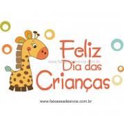Adesivo Dia das Crianças Girafinha -Escolha o tamanho - D301