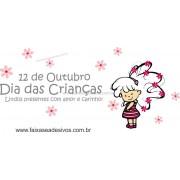 Adesivo Dia das Crianças Florzinha - Escolha o tamanho - D302