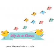 Adesivo Dia das Crianças Passarinhos - Escolha o tamanho - D303