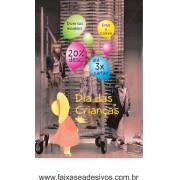Adesivo de Vitrine - Menina dos Balões Adesivo - D311