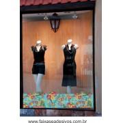 Barrado de vitrine Vinho e Amarelo - B101