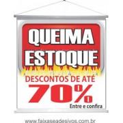 Banner Queima de Estoque 70x70cm - Q303