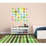 Adesivo decorativo de parede infantil Alfabeto - 1,00x0,85m - P103