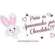 AP417 - Adesivo Apaixonados por Chocolate