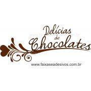 AP419 - Adesivo Decorativo de Páscoa - Delicias de Chocolate