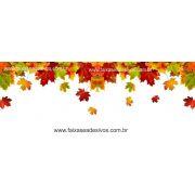 A608 - Adesivo Outono Inverno - Cai folhas