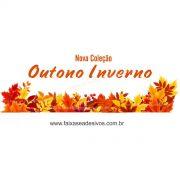 A609 - Adesivo Outono Inverno - Barrado de folhas