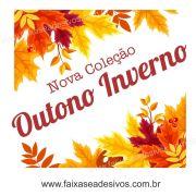 A610 - Adesivo Outono Inverno - Cantoneira de folhas