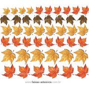 A622 - Adesivo Outono Inverno -Cartela de folhas